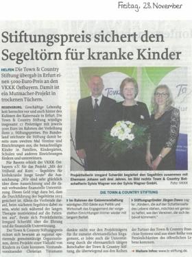 Pressetext Scheckübergabe TC-Stiftungspreis