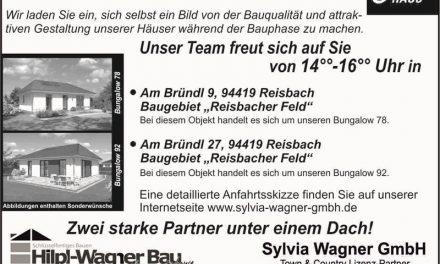 Kommen Sie zu unseren nächsten Hausbesichtigungen im Landkreis Dingolfing-Landau