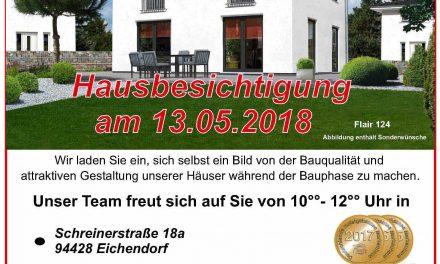 ! Baustellenbesichtigung am Sonntag, den 13. Mai 2018 !