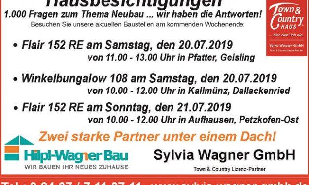 Hausbesichtigungen am kommenden Wochenende im Landkreis Regensburg!