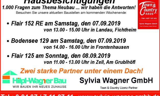 Hausbesichtigungen am kommenden Wochenende im Landkreis Dingolfing und Cham