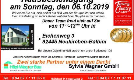 Hausbesichtigung im Landkreis Schwandorf am Sonntag, den 06.10.2019
