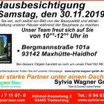 Einladung zur Hausbesichtigung in Maxhütte-Haidhof, Lkr. Schwandorf am Samstag, den 30.11.2019 von 10:00 -12:00 Uhr