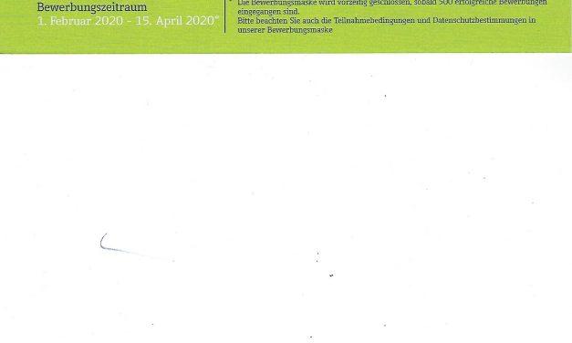 8. Town & Country Stiftungspreis -Bewerbungsfrist läuft bis 15.04.2020!