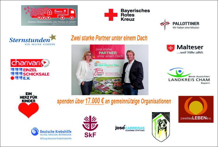 Spenden i. H. von über 17.000 € gehen an soziale und gemeinnützige Einrichtungen.